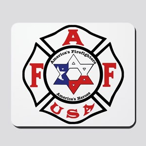 Jewish Firefighter Star Mousepad