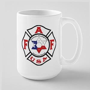 Jewish Firefighter Star Large Mug