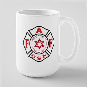 Jewish FireFigher Large Mug