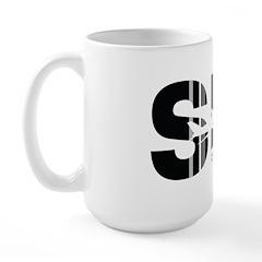 Singapore Sin Airport Code Large Mug