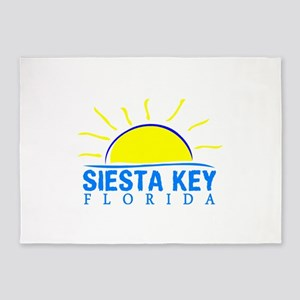 Summer siesta key- florida 5'x7'Area Rug