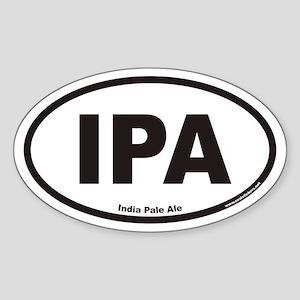IPA India Pale Ale Oval Sticker