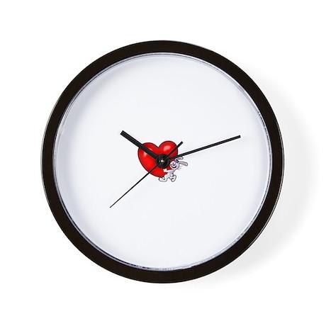 Bunny Heart Wall Clock