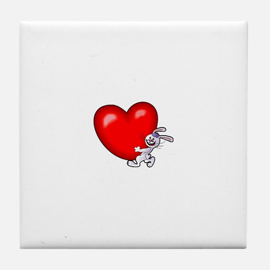 Bunny Heart Tile Coaster