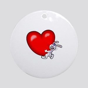 Bunny Heart Ornament (Round)