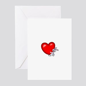 Bunny Heart Greeting Cards (Pk of 20)