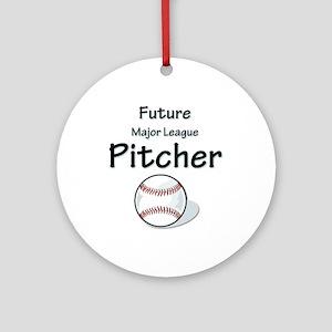 Future Pitcher Ornament (Round)