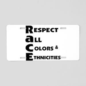 Race relations Aluminum License Plate