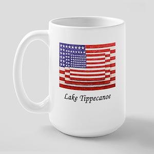 3 Flags Superimposed Large Mug