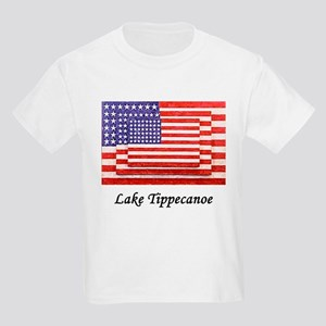 3 Flags Superimposed Kids Light T-Shirt