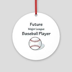 Future Baseball Player Ornament (Round)