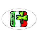 Irish Flag of Ireland Oval Sticker
