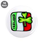 "Irish Flag of Ireland 3.5"" Button (10 pack)"