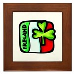 Irish Flag of Ireland Framed Tile