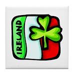 Irish Flag of Ireland Tile Coaster