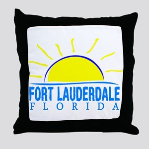 Summer fort lauderdale- florida Throw Pillow
