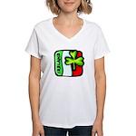 Irish Flag of Ireland Women's V-Neck T-Shirt