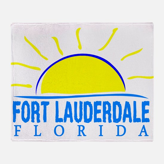 Summer fort lauderdale- florida Throw Blanket
