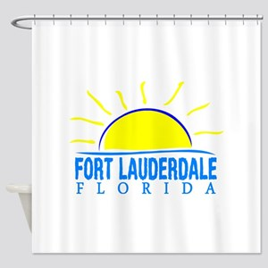 Summer fort lauderdale- florida Shower Curtain
