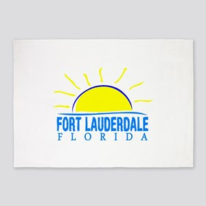 Summer fort lauderdale- florida 5'x7'Area Rug