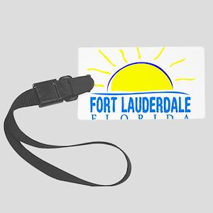 Summer fort lauderdale- florida Large Luggage Tag