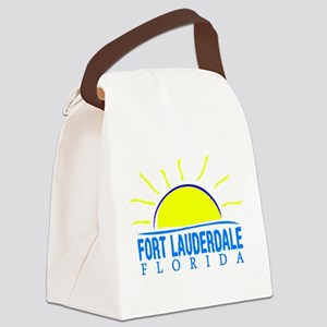Summer fort lauderdale- florida Canvas Lunch Bag