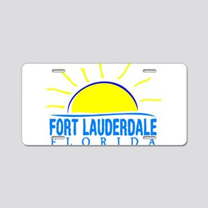 Summer fort lauderdale- flo Aluminum License Plate
