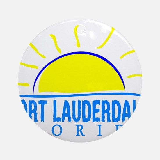Summer fort lauderdale- florida Round Ornament