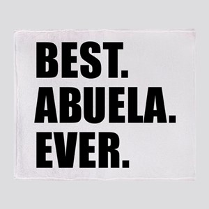 Best Abuela Ever Throw Blanket