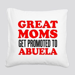 Promoted To Abuela Drinkware Square Canvas Pillow