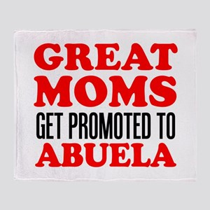 Promoted To Abuela Drinkware Throw Blanket