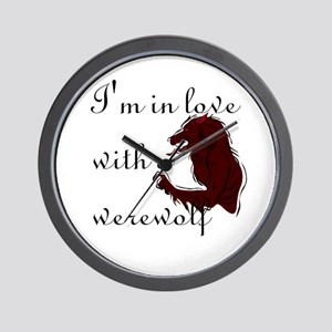 I'm in love with a werewolf Wall Clock