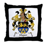 Glasser Family Crest Throw Pillow