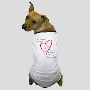 Retired Racer Heart Belongs Dog T-Shirt
