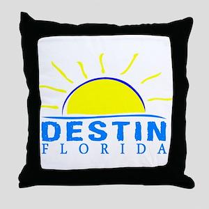 Summer destin- florida Throw Pillow