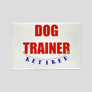 Retired Dog Trainer Rectangle Magnet