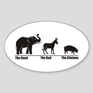 The Good The Bad Oval Sticker
