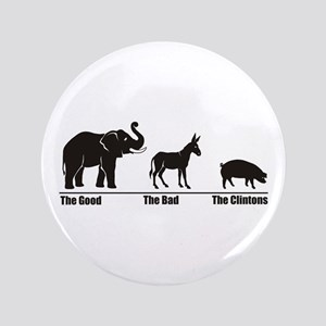 """The Good The Bad 3.5"""" Button"""