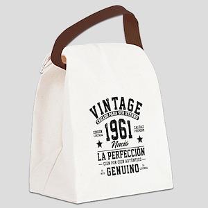 Vintage 1961 La Perfeccion Canvas Lunch Bag