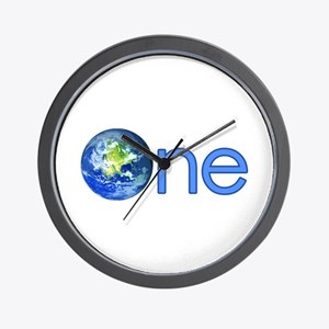 One Earth Wall Clock
