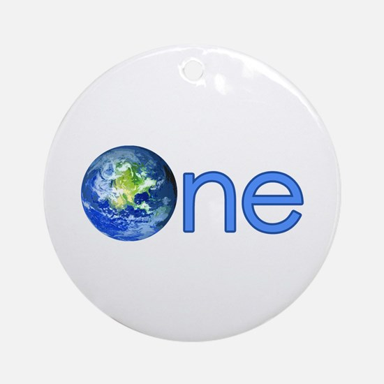 One Earth Ornament (Round)