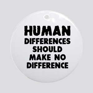 Human differences Round Ornament