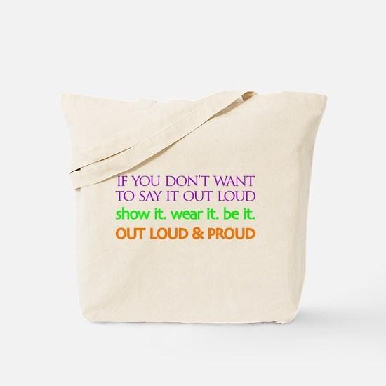 LiveOUTloud Tote Bag