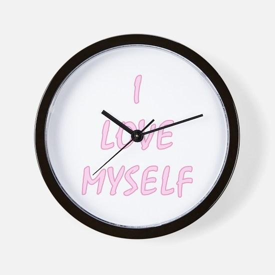 I Love Myself - Portrait Wall Clock