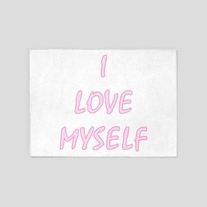 I Love Myself - Portrait 5'x7'area Rug