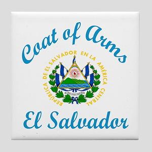 Coat Of Arms El Salvador Country Desi Tile Coaster