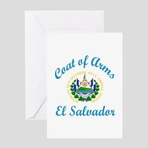 Coat Of Arms El Salvador Country Des Greeting Card