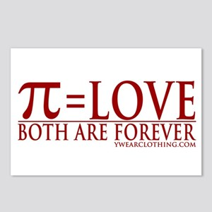 Pi = Love Postcards (Package of 8)