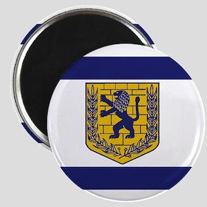 Jerusalem Municipal Flag Magnet
