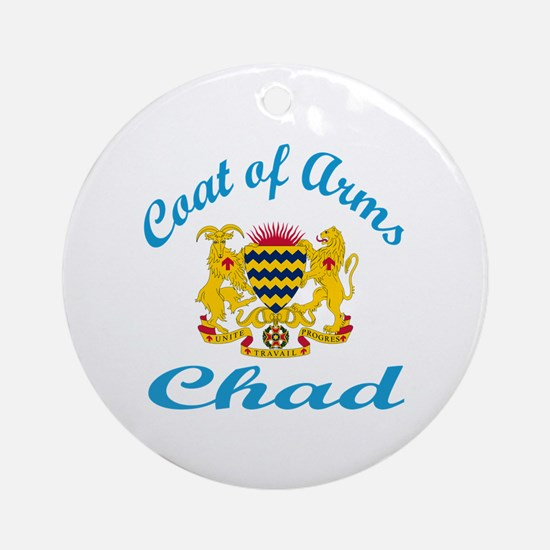 Coat Of Arms Chad Country Designs Round Ornament